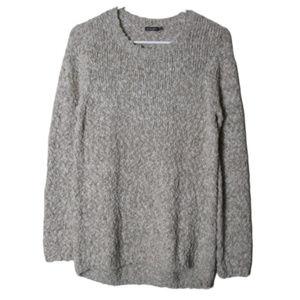J. Mclaughlin cream textured cotton blend sweater